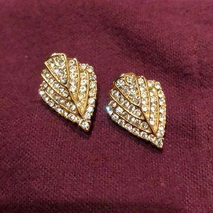 Rhinestone earrings for pierced earrings